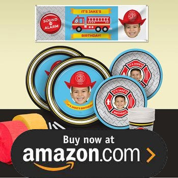 Five Alarm Flaming Fire Truck Party Supplies
