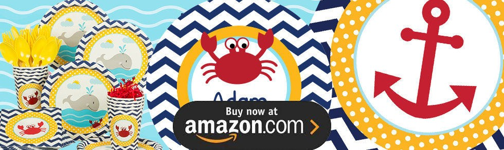 Nautical Fun 1st Birthday Party Supplies