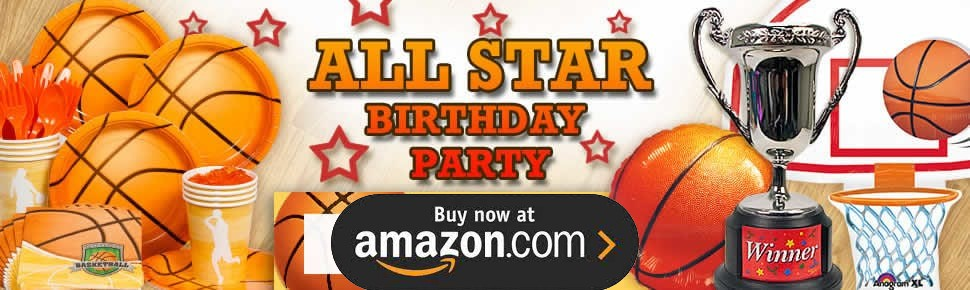 Basketball Star Party Supplies