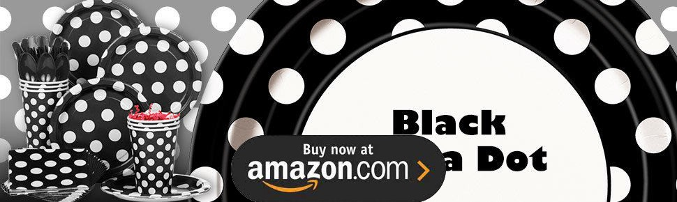 Black and White Dots Party Supplies