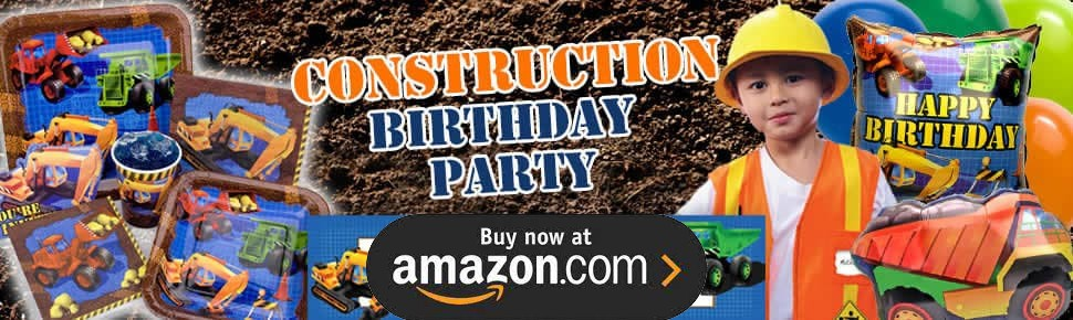 Construction Trucks Party Supplies