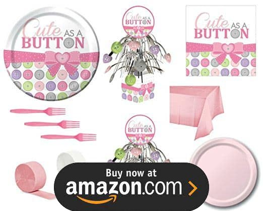 Cute As A Button Pink Party Supplies