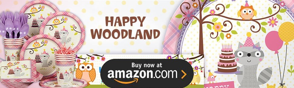 Happy Woodland Girl Party Supplies