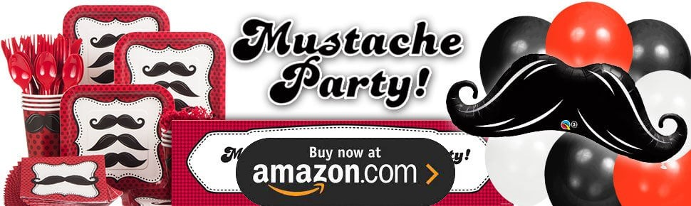Mustache Man Personalized Party Supplies