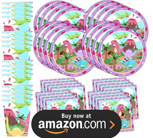 Pink Little Dino Party Supplies