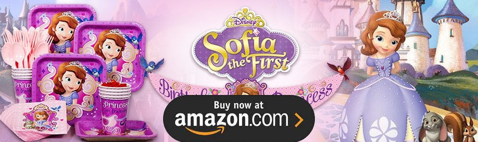 Sofia the First - 1st Birthday Party Supplies