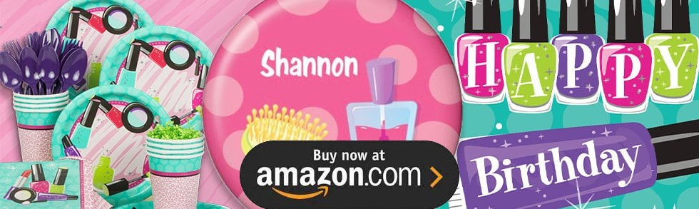 Little Spa Party Personalized Party Supplies