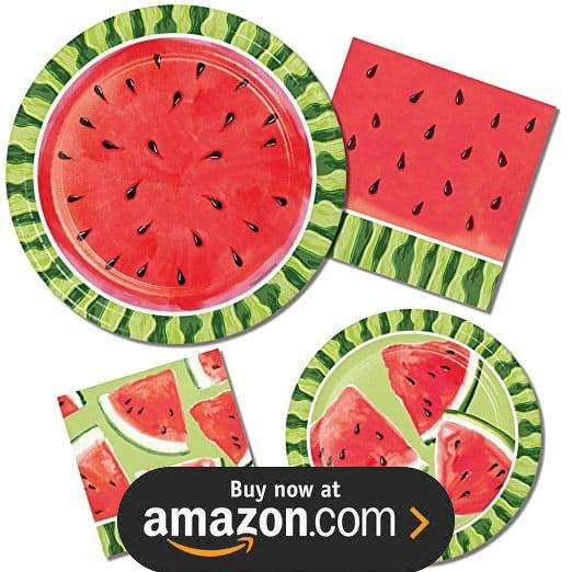 Watermelon Summer Picnic Party Supplies