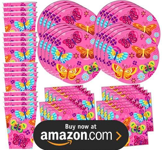 Whimsical Pink Butterfly Party Supplies